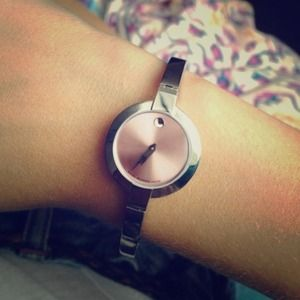 Movado Bela Stainless Steel with Pink Face
