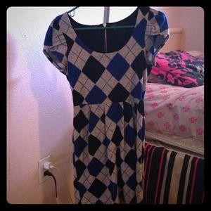 Grey, Black, & Blue dress