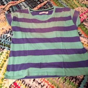 Madewell Blue Striped Tee