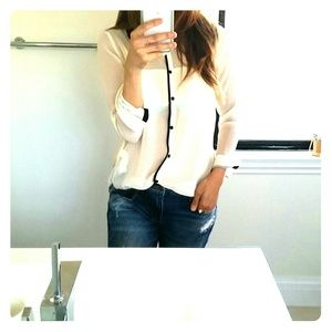 Zara Tops - Zara sheer white blouse!