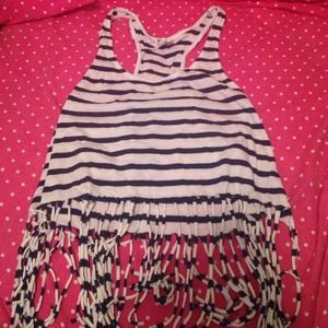 Striped fringe tank Victoria's Secret PINK XS