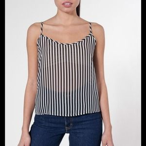American Apparel Tops - American Apparel Striped Chiffon Tank