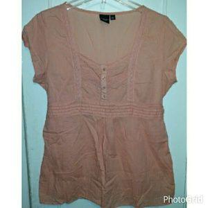 💙💙SOLD💙💙 Sonoma Petite Tie-Back Cotton Blouse