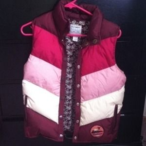 Old Navy Maroon Puffy Vest adult small