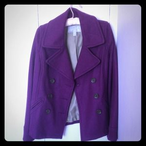 56% off Jackets & Blazers - Purple Wool Peacoat from !! danielle