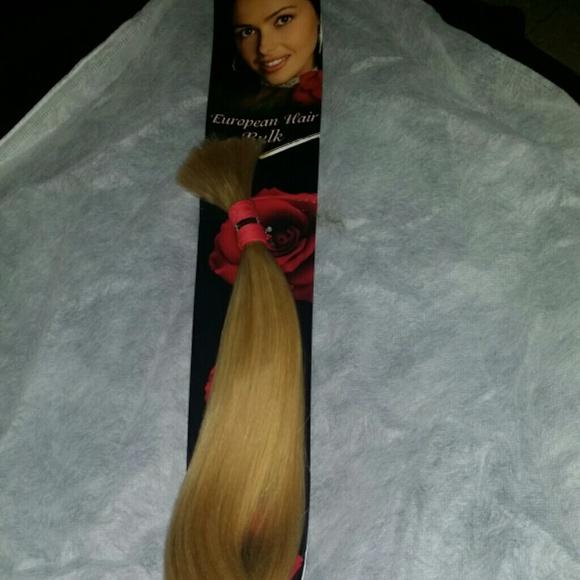 European blonde human hair 20 inches bulk (no weft 8df51f4f8116