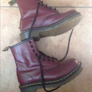 Red Doc Martens UK 4/US 6