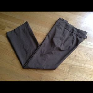 Etcetera Brown Wool Stretch Dress Pants