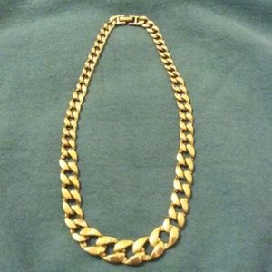 60 off Jewelry Monet Gold Coated Chain Necklace Poshmark