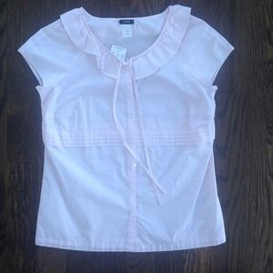 Jcrew Pink Stripe Top - Brand New! NWT