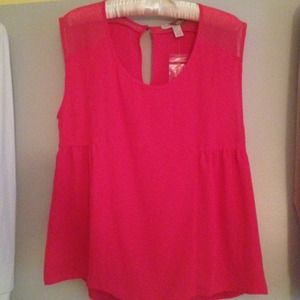 Pink babydoll Forever 21 top