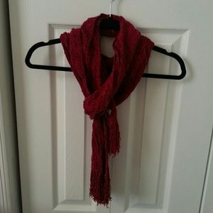 NWT Charter Club Cherry Red Scarf