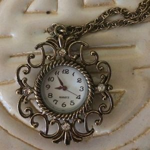 Beautiful vintage watch necklace.