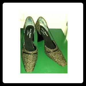 Robert Clegerie Paris, Lovely Tweed Heels Size 6.5