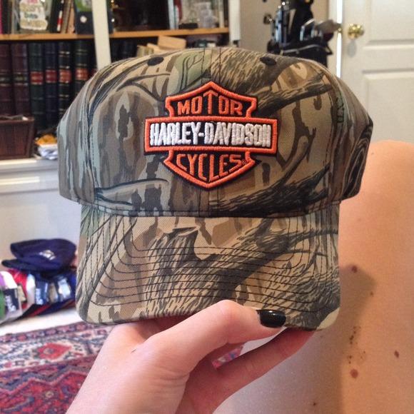 Accessories On Hold Camo Harley Davidson Hat Nwot Poshmark