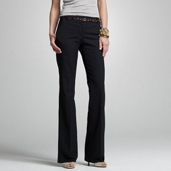 J.Crew black wool stretch favorite fit pants sz 2