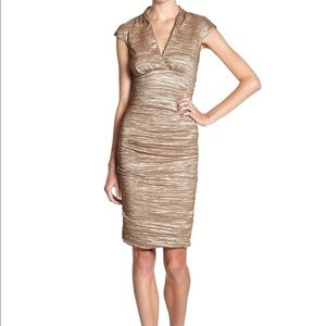 Nicole Miller champagne dress $430 NWT!
