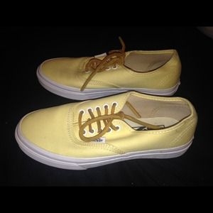 2edaf92f67d82a Vans Shoes - Yellow vans w  leather laces