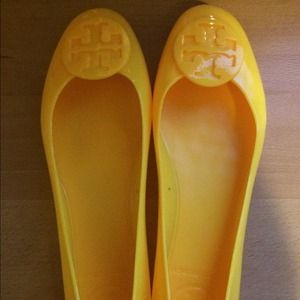 Tory Burch Bright Yellow Jelly Reva