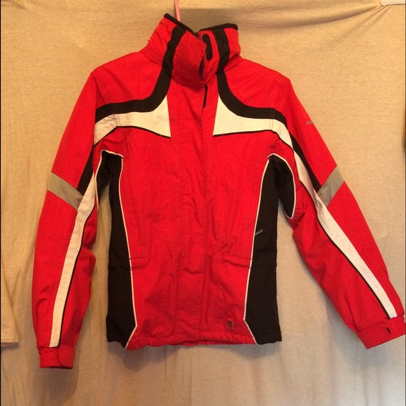 Red and black spyder jacket