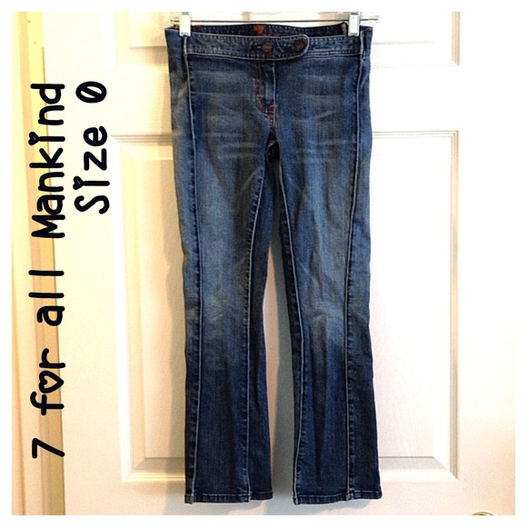 7 for all Mankind Denim - 7 for all Mankind Cropped Jeans Capris 25/0 7FAMK