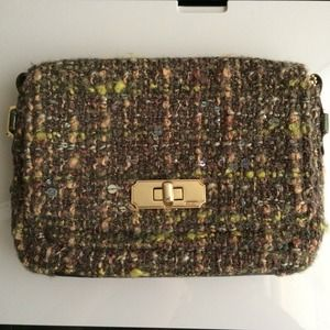 Auth Knitted Coach clutch/purse with long chain