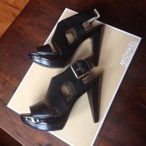 e2228d6324a Michael Kors Shoes - Michael Kors Carla Platform 6.5 in black