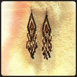 3 in beaded chandelier earrings