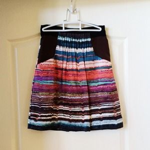 Nordstrom silk multi-colored skirt by Hype
