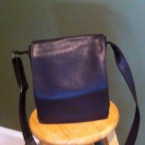 Longchamp's Crossbody brown leather messenger bag