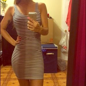 Striped American apparel dress