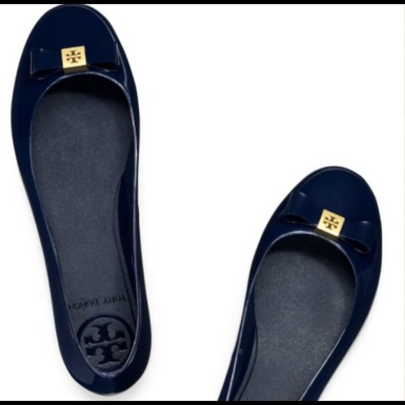3fa58361e73be1 low price flats tory burch 243d9 c47c2  canada saletory burch jelly flats  navy blue e9819 898d7