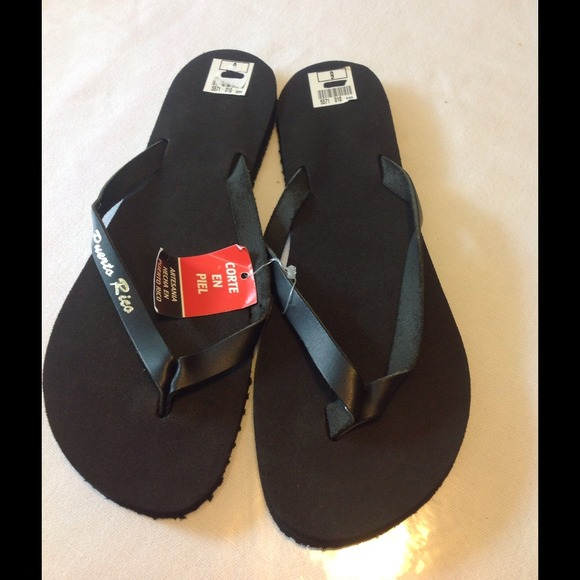 No Brand Shoes New Black Puerto Rico Flip Flops Poshmark