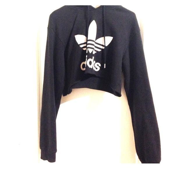 44% off Adidas Sweaters - Crop Sweater from Queen's closet on Poshmark