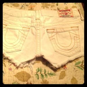 White True Religion Shorts 
