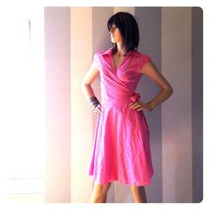 🕶Eyelet wrap dress S-M🌼