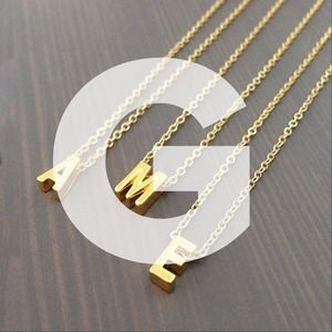 "gnomesjoyclub Jewelry - Letter ""G"" Initial Charm on 24k Gold-Plated Chain"