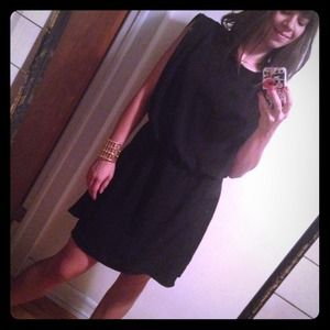 Zara Black Blouson Dress