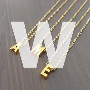 gnomesjoyclub Jewelry - LAST CHANCE W Initial Charm 24k Gold-Plated Chain