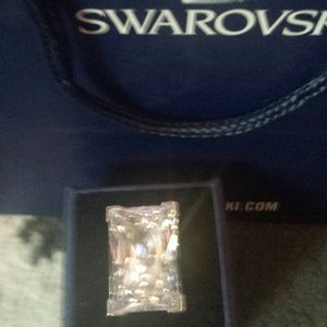Swarovski moonshine ring sz small!