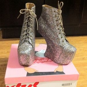 JC Night Lita Multi Colored Glitter Boots