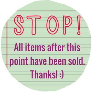 Other - The following items have already been sold.