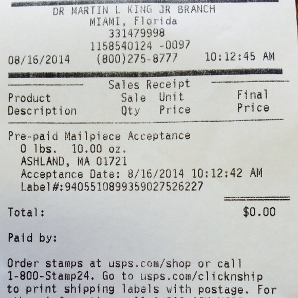 Brandy Melville - tracking and receipt from Winda's closet on Poshmark