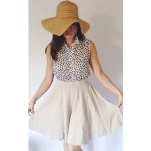 Suede-Like Tan Culotte Skirt