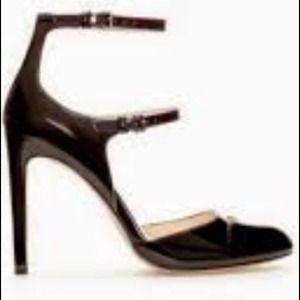 ZARA Salon Tacon Tiras Heels w/ Double Ankle Strap