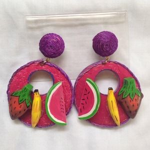 Colorful Fruit Earrings