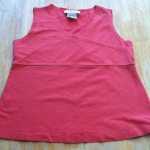 Coral colored maternity top