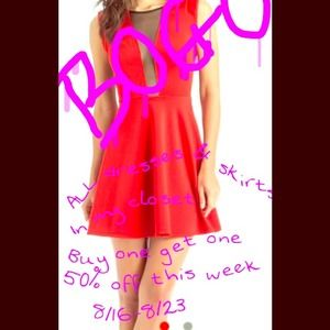 BOGO SALE!!!!! ALL dresses and skirts!