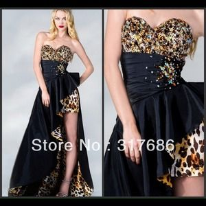 Cheetah Print High-Low Prom/Special Event Dress