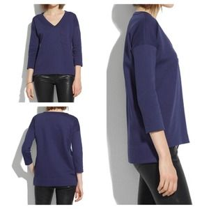 Madewell navy pique top size L